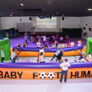 baby-foot humain dans l'espace Grégoire