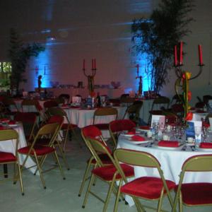 décoration de mariage dans l'espace Grégoire au château des Boulard