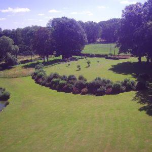 vue sur le parc du château des boulard