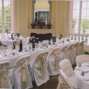 salle pour un mariage au château des boulard