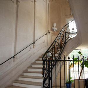 escalier du château des boulard