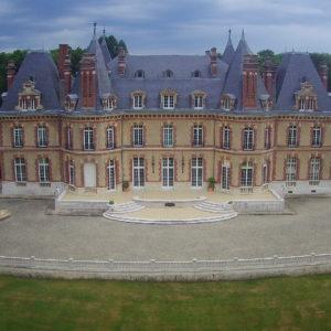 vue aérienne du château des boulard